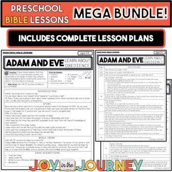 Preschool Bible Lessons: GROWING BUNDLE