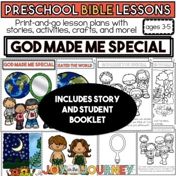 Preschool Bible Lessons: God Made Me Special | TpT