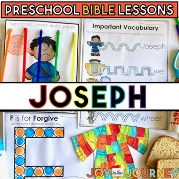 Preschool Bible Lessons: Joseph by Joy in the Journey by ...