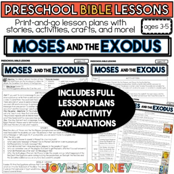 Preschool Bible Lessons: Moses and the Ten Plagues