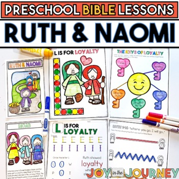 preschool bible lessons ruth and naomi loyalty tpt