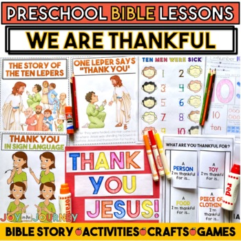 Preschool Bible Lessons: We Are Thankful