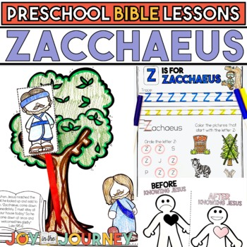 Preschool Bible Lessons: Zacchaeus by Joy in the Journey by Jessica ...