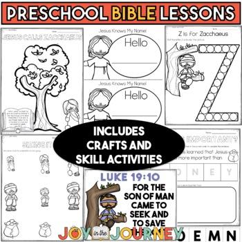 Preschool Bible Lessons: Zacchaeus