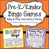 Preschool Bingo Games - Baby and Making Music Bundle