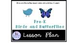 Preschool Birds and Butterflies Themed lesson plan