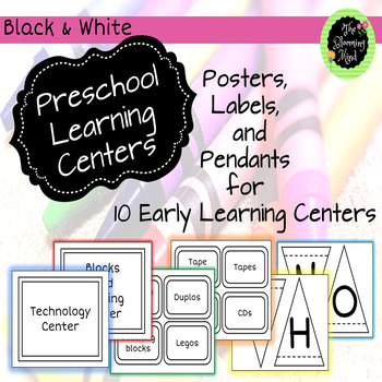 Preschool Center Signs and Labels