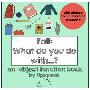 Preschool Book:  Fall Object Functions
