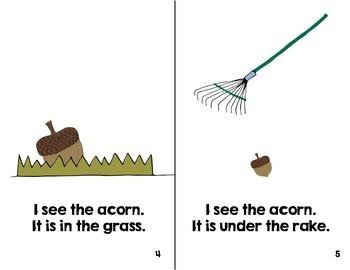 Preschool Book:  Fall Prepositions