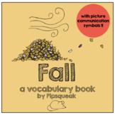 Preschool Book:  Fall Vocabulary