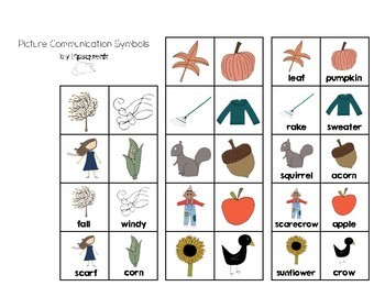 Preschool Book:  Fall Vocabulary