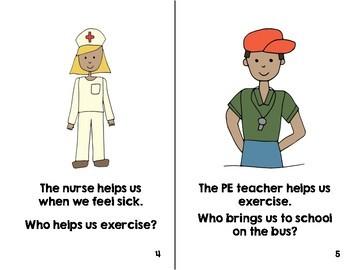 """Preschool Book:  Fall """"Who"""" Questions"""