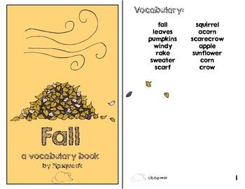 Preschool Books:  Fall Bundle
