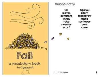 Preschool Books:  Fall Bundle