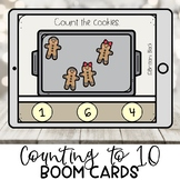 Preschool Boom Cards | Gingerbread Christmas Cookies | Dig