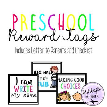 Preschool Brag Tags and Goals (Includes Parent Letter and Checklist)