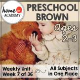 Preschool Brown - Weekly Unit for Preschool, PreK or Homeschool