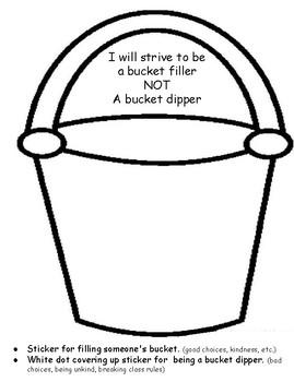 Preschool Bucket Filler Adaptation Sticker Sheet PRECIOUS PRESCHOOLERS