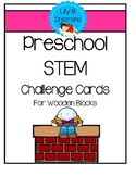 Preschool STEM Challenge Cards - Wooden Blocks
