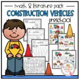 Construction Vehicles Math and Literature Pack