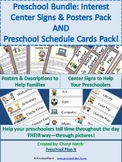 Preschool Bundle: Posters & Sign Labels Packet AND Prescho