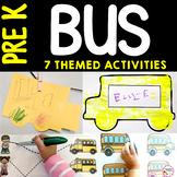Preschool Bus Activities for Back to School