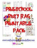 Preschool Busy Bag Printable Pack