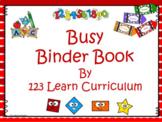 Preschool Busy Binder Book
