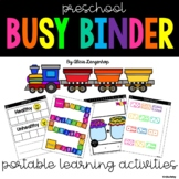 Preschool Busy Binder Portable Learning Activities