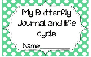 Preschool Butterfly Life Cycle Journal