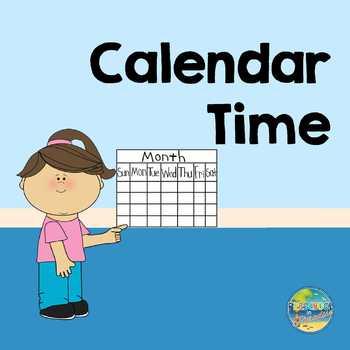 Preschool Calendar Activities