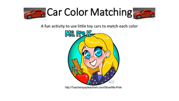 Preschool Car Color Matching