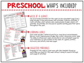 Preschool: Carnival {Plans and Printables}