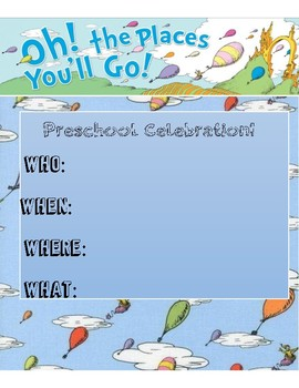 Preschool Celebration Invitation