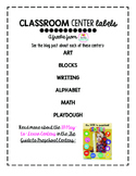 Preschool Center Labels