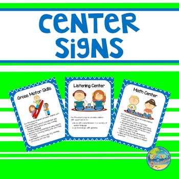 Preschool Center Signs