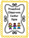 Preschool Center Signs *Editable*
