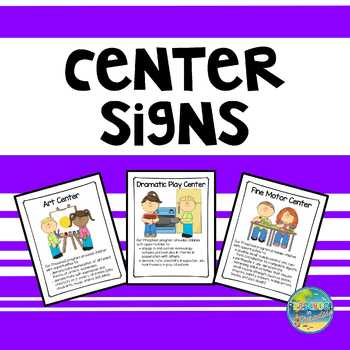 Preschool Center Signs--in Frames