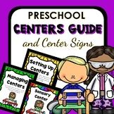 Preschool Centers Guide with Center Signs and Management Cards
