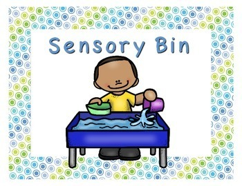 Preschool Centers Signs Blues and Greens
