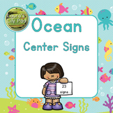 Centers Signs Ocean Life for Preschool, PreK, or Kindergarten