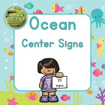 Preschool Centers Signs Ocean Life
