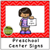 Preschool Centers Signs Red Chevron