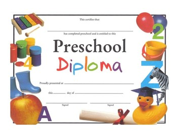 Preschool Certificate of Completion