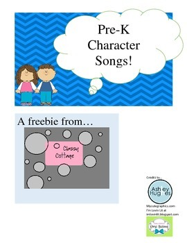 Preschool Character Songs Freebie