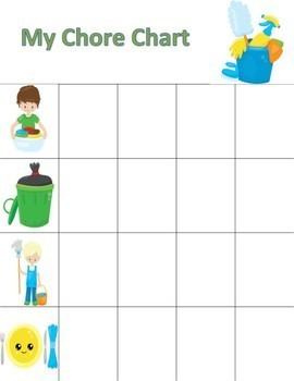 Preschool or Kindergarten Chore Chart