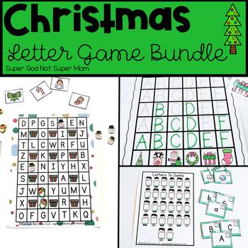 Preschool Christmas Alphabet Activities Bundle