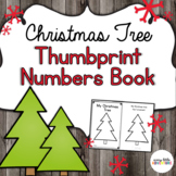Preschool Christmas Thumbprint Number Book
