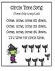 Preschool Circle Time Ideas - Halloween Set