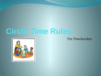 Preschool Circle Time and Library Rules